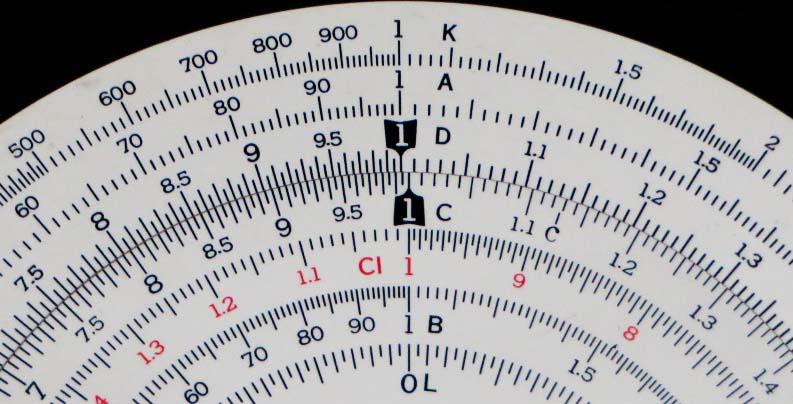 circular slide rule 16-000